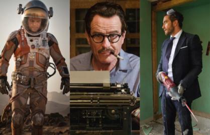 "Matt Damon in ""The Martian,"" Bryan Cranston in ""Trumbo"" and Jake Gyllenhaal in ""Demolition"""