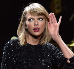 Singer Taylor Swift performs onstage