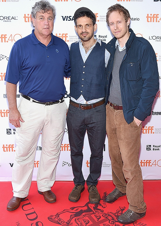 TORONTO, ON - SEPTEMBER 10: (L-R) Co-President and Co-Founder of Sony Pictures Classics Tom Bernard, actor Geza Rohrig and director Laszlo Nemes attend the 'Son Of Saul' photo call during the 2015 Toronto International Film Festival at Ryerson Theatre on September 10, 2015 in Toronto, Canada. (Photo by Mike Windle/Getty Images)