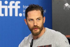 TORONTO, ON - SEPTEMBER 13: Actor Tom Hardy speaks onstage during the 'Legend' press conference at the 2015 Toronto International Film Festival at TIFF Bell Lightbox on September 13, 2015 in Toronto, Canada. (Photo by Tommaso Boddi/Getty Images)