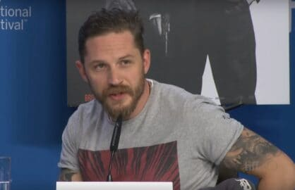 Tom Hardy TIFF sexuality question