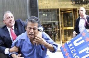 Trump protestor