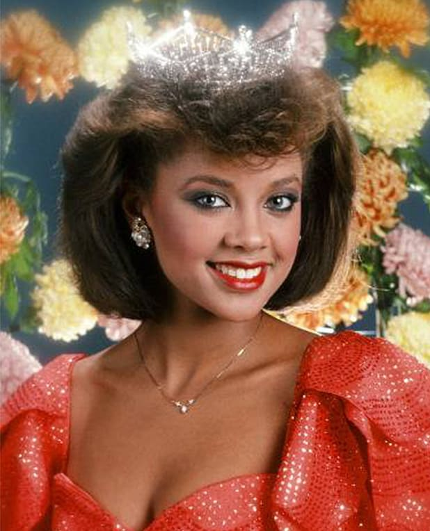 THE 57TH ANNUAL MISS AMERICA PAGEANT (1984) -- Pictured: Miss New York Vanessa Williams winner of the 57th Miss America Pageant for 1984 -- (Photo by: NBC/NBCU Photo Bank via Getty Images)
