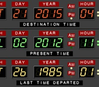 Back to the future dates 2015