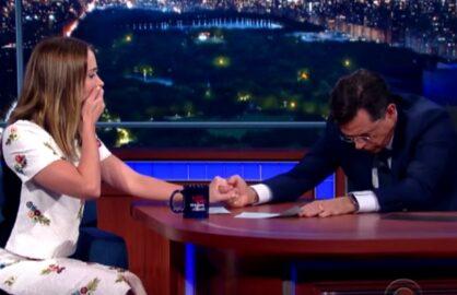 Emily Blunt Stephen Colbert