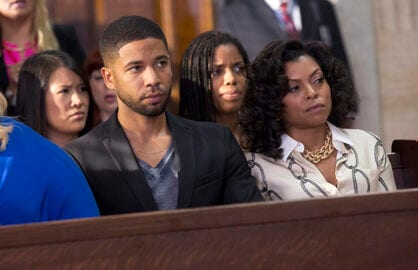 """EMPIRE: Jussie Smollett as Jamal Lyon and Taraji P. Henson as Cookie Lyon in the """"The Devils Are Here"""" Season Two premiere episode of EMPIRE airing Wednesday, Sept. 23 (9:00-10:00 PM ET/PT) on FOX.  ©2015 Fox Broadcasting Co. Cr: Chuck Hodes/FOX."""