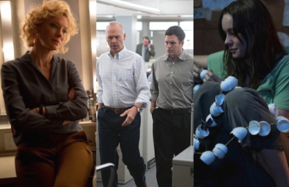 "Cate Blanchett in ""Truth,"" Michael Keaton and Mark Ruffalo in ""Spotlight"" and Brie Larson in ""Room"""