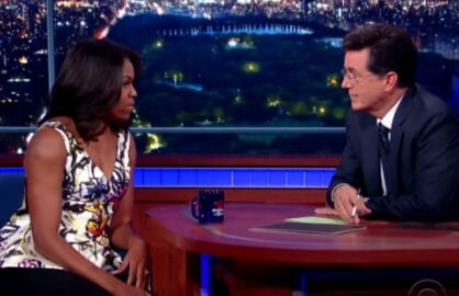 michelle obama stephen colbert