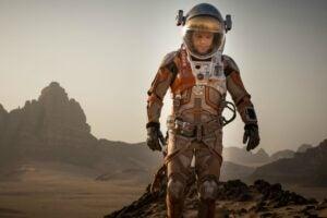 Matt Damon portrays the titular hero in THE MARTIAN.