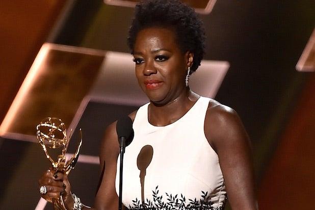 Viola Davis at the 67th Emmy Awards