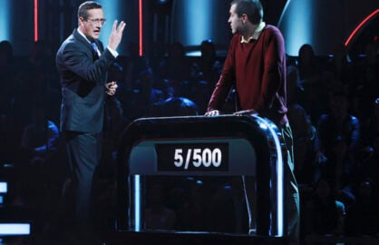 "500 QUESTIONS - ""101"" - It is the ultimate test, where intellect, strategy and stamina are all equally essential in order to win. The innovative ""genius game show,"" hosted by CNN's Richard Quest (""Quest Means Business""), premieres WEDNESDAY, MAY 20 (8:00-9:00 p.m.), on the ABC Television Network. On the premiere episode, ""101,"" an attorney and a neuroscientist face off in this intense test of knowledge, where the toughest question of all is, can either of them answer 500 questions. (ABC/Ron Tom) RICHARD QUEST, DAN MCCARTHY"