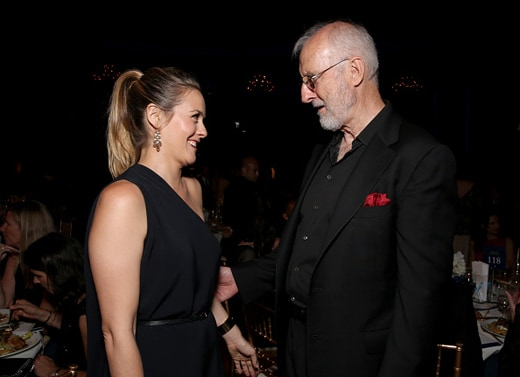 LOS ANGELES, CA - SEPTEMBER 30: Actors Alicia Silverstone (L) and James Cromwell attend PETA's 35th Anniversary Party at Hollywood Palladium on September 30, 2015 in Los Angeles, California. (Photo by Todd Williamson/Getty Images for PETA)