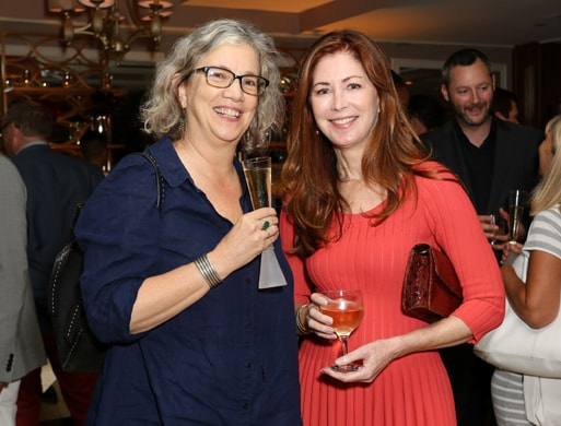 WEST HOLLYWOOD, CA - OCTOBER 15: Anne Thompson (L) and actress Dana Delany attend IMDb's 25th Anniversary Party co-hosted by Amazon Studios presented by VISINE at Sunset Tower Hotel on October 15, 2015 in West Hollywood, California. (Photo by Rachel Murray/Getty Images for IMDb)