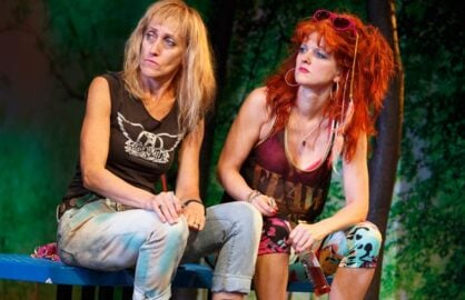 "Constance Shulman and Arden Myrin in ""Barbecue"" (Photo: Joan Marcus)"