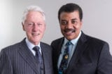 NEW YORK, N.Y. - Bill Clinton and Neil deGrasse Tyson.
