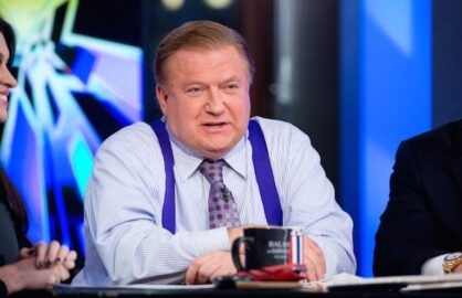 "NEW YORK, NY - FEBRUARY 26: Co-host Bob Beckel attends FOX News' ""The Five"" at FOX Studios on February 26, 2014 in New York City.  (Photo by Noam Galai/Getty Images)"
