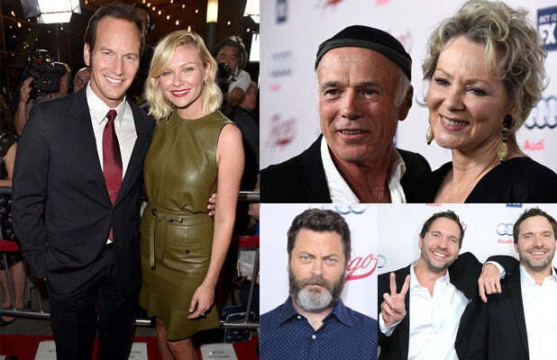 "Kirsten Dunst, Patrick Wilson, and the cast of ""Fargo"" celebrated the new season in Hollywood on Wednesday night, October 7. (Getty Images)"