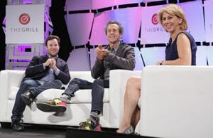 Danny Strong, Brian Grazer and Sharon Waxman