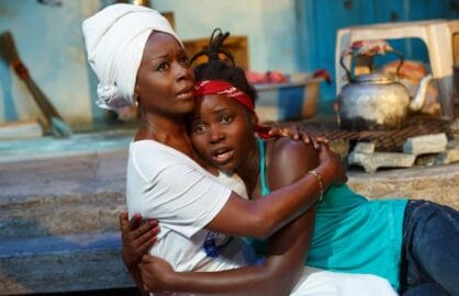 Akosua Busia and Lupita Nyong'o in 'Eclipsed' (Photo: Joan Marcus)