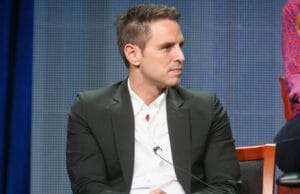 BEVERLY HILLS, CA - AUGUST 13: Executive producer Greg Berlanti speaks onstage during NBC's 'Blindspot' panel discussion at the NBCUniversal portion of the 2015 Summer TCA Tour at The Beverly Hilton Hotel on August 13, 2015 in Beverly Hills, California. (Photo by Frederick M. Brown/Getty Images)