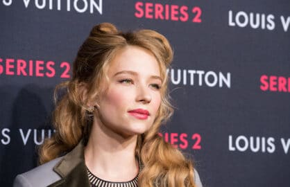 "HOLLYWOOD, CA - FEBRUARY 05:  Actress Haley Bennett  arrives at Louis Vuitton ""Series 2"" The Exhibition on February 5, 2015 in Hollywood, California.  (Photo by Valerie Macon/Getty Images)"
