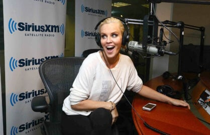 "NEW YORK, NY - JULY 16:  Jenny McCarthy hosts her limited-run SiriusXM show ""Dirty, Sexy Funny with Jenny McCarthy"" live on SiriusXM Stars at SiriusXM studios on July 16, 2014 in New York City.  (Photo by Astrid Stawiarz/Getty Images for SiriusXM)"