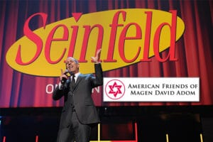 Seinfeld will perform at the American Friends of Magen David Adom at the Beverly Hilton on October 22. (Getty Images; AFMDA)