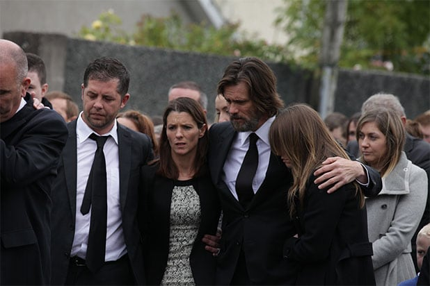 Jim Carrey Attends Funeral Carries Casket Of Late Girlfriend Cathriona White
