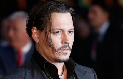 "LONDON, ENGLAND - OCTOBER 11:  Johnny Depp attends the ""Black Mass"" Virgin Atlantic Gala screening during the BFI London Film Festival, at Odeon Leicester Square on October 11, 2015 in London, England.  (Photo by John Phillips/Getty Images for BFI)"