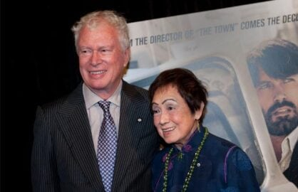 "Ken Taylor and wife, Pat, at ""Argo"" premiere in Washington, D.C. (Photo: Getty Images)"