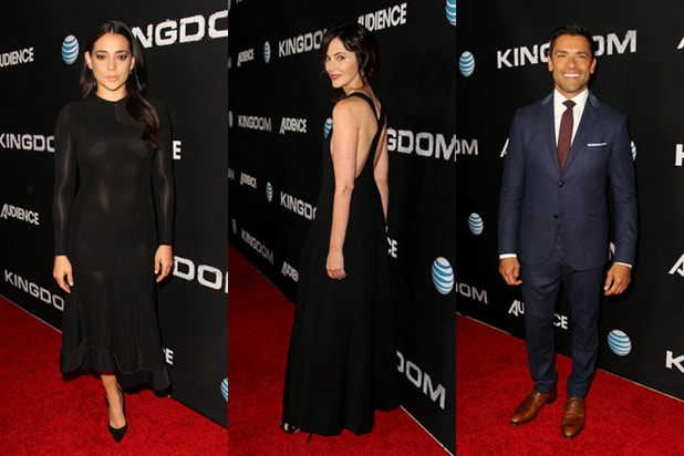 Jessica Szohr, Joanna Going and Frank Grillo (Photo by Rachel Murray/Getty Images for DIRECTV)