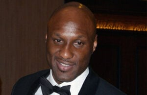 LOS ANGELES, CA - JANUARY 12: Lamar Odom leaves the Golden Globe After Party at The Bverly Hilton Hotel on January 12, 2014 in Los Angeles, California. (Photo by C Flanigan/Getty Images)