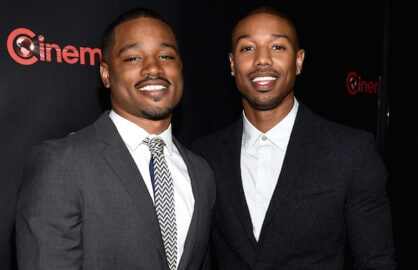 "LAS VEGAS, NV - APRIL 21:  Director Ryan Coogler and actor Michael B. Jordan attend Warner Bros. Pictures Invites You to ""The Big Picture"", an Exclusive Presentation Highlighting the Summer of 2015 and Beyond at The Colosseum at Caesars Palace during CinemaCon, the official convention of the National Association of Theatre Owners, on April 21, 2015 in Las Vegas, Nevada.  (Photo by Michael Buckner/Getty Images for CinemaCon)"