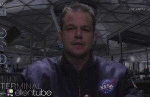 Matt Damon The Martian Ellen Parody