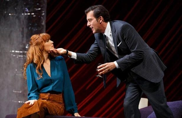 "Kelly Reilly and Clive Owen in ""Old Times"" (Photo: Joan Marcus)"