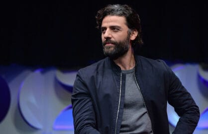 ANAHEIM, CA - APRIL 16:  Actor Oscar Isaac speaks onstage during Star Wars Celebration 2015 on April 16, 2015 in Anaheim, California.  (Photo by Alberto E. Rodriguez/Getty Images for Disney)