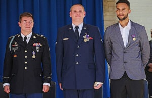 Alek Skarlatos, Spencer Stone and Anthony Sadler