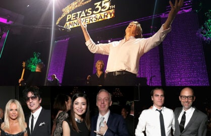 Paul McCartney rocked PETA's star packed 35th Birthday Party at the Palladium in Hollywood on Wednesday night. (Mikey Glazer; Getty Images (3))