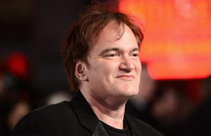 """LONDON, ENGLAND - JANUARY 10:  Writer and director Quentin Tarantino attends the UK Premiere of """"Django Unchained"""" at the Empire Leicester Square on January 10, 2013 in London, England.  (Photo by Ian Gavan/Getty Images)"""