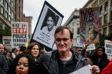 NEW YORK, NY - OCTOBER 24: Director Quentin Tarantino attends a march to denounce police brutality in Washington Square Park October 24, 2015 in New York City. The rally is part of a three-day demonstration against officer-involved abuse and killing. (Photo by Kena Betancur/Getty Images)
