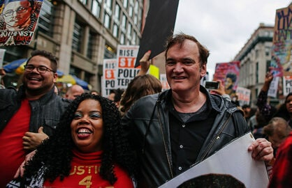 Quentin Tarantino Joins Police Brutality Protest