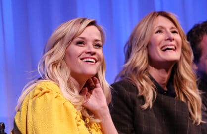 "NEW YORK, NY - DECEMBER 03:  Actors Reese Witherspoon and Laura Dern  attend Official Academy members screening of ""Wild"" on December 3, 2014 in New York City.  (Photo by Bennett Raglin/Getty Images for Academy of Motion Picture Arts and Sciences)"