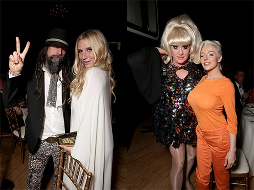 Rob Zombie and Kesha, Lady Bunny and tabloid-star Courtney Stodden exemplify the high-low Hollywood of PETA's big tent. (Getty Images)