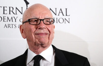 NEW YORK, NY - NOVEMBER 24:  Rupert Murdoch attends the 2014  International  Academy Of Television Arts & Sciences Emmy Awards at New York Hilton on November 24, 2014 in New York City.  (Photo by Neilson Barnard/Getty Images)