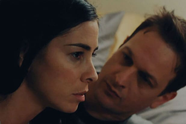 "Sarah Silverman with Josh Charles in ""I Smile Back"""