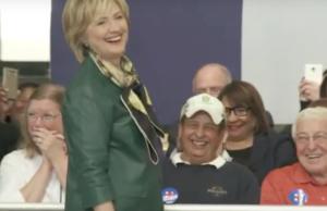 Clinton Iowa Trump impersonation