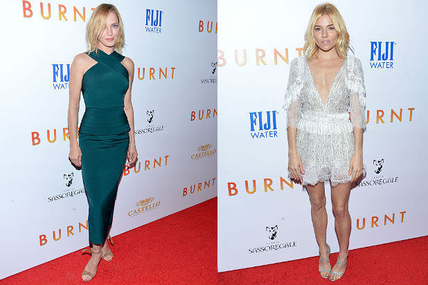 Uma Thurman and Sienna Miller/Getty Images