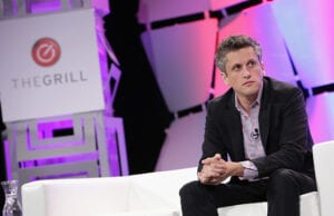 BEVERLY HILLS, CA - OCTOBER 06: Aaron Levie, CEO, co-founder and chairman of Box speaks onstage during TheWrap's 6th Annual TheGrill at Montage Beverly Hills on October 6, 2015 in Beverly Hills, California. (Photo by Alison Buck/Getty Images for TheWrap)