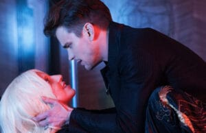 "AMERICAN HORROR STORY -- ""Chutes and Ladders"" Episode 502 (Airs Wednesday, October 14, 10:00 pm/ep) Pictured: (l-r) Lady Gaga as the Countess, Matt Bomer as Donovan. CR: Suzanne Tenner/FX"
