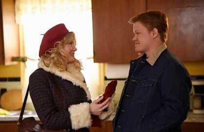 FARGO -- Pictured: (l-r) Kirsten Dunst as Peggy Blumquist, Jesse Plemons as Ed Blumquist. CR: Chris Large/FX